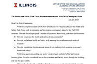 Health and Safety Task Force Recommendations Report